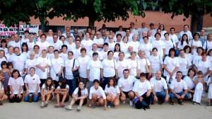 """Membres de la """"Plataforma No al Tancament d'Urgències del Cap de Castellbisbal"""". Font: change.org"""