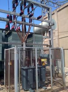 Imatge cedida per Endesa de la subestació elèctrica
