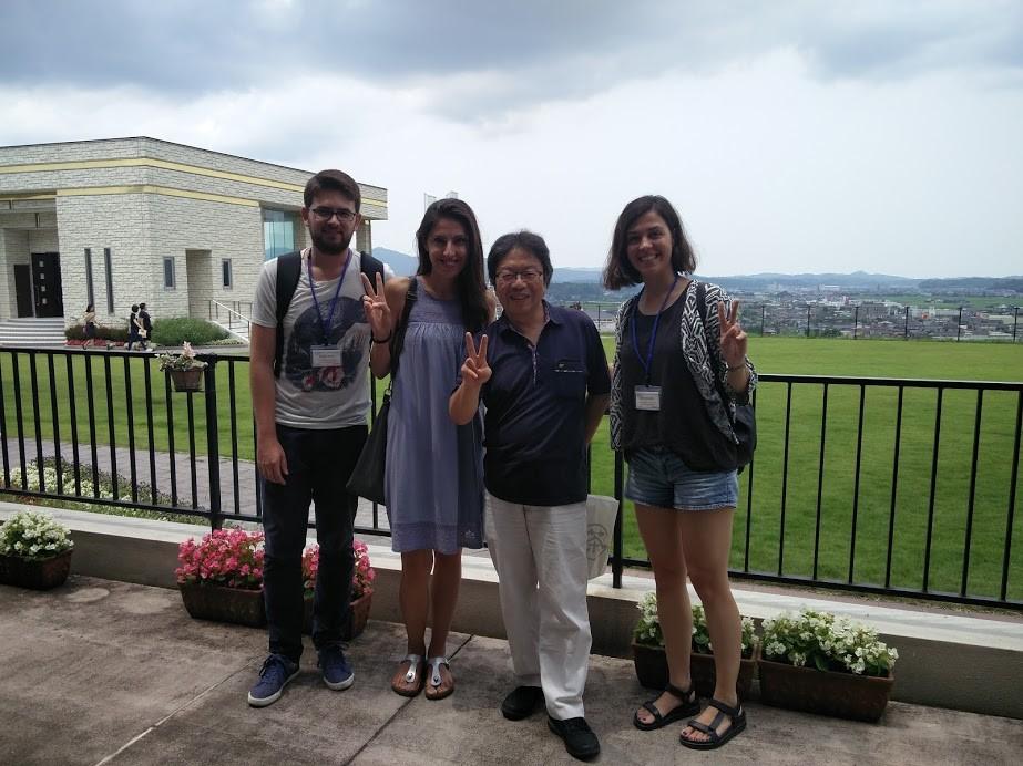De visita a Kyotango amb els meus companys turcs i el meu tutor, el Professor Sato.